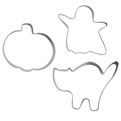 Set 3 Tagliapasta Zucca Fantasma Gatto Per Biscotti Di Halloween (Di Halloween Biscotti)