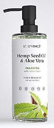 ST. D'VENCE Hemp Seed Oil Body Wash With Neem (500 Ml), 500 ml