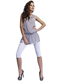 Mujer Leggings Cortos 3/4 Clásicos Algodón Color Sólido Pantalones Capri