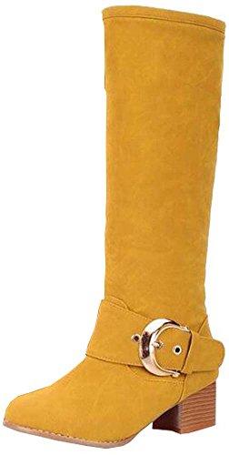 Neu hohe Stiefel Damenstiefel Gelb