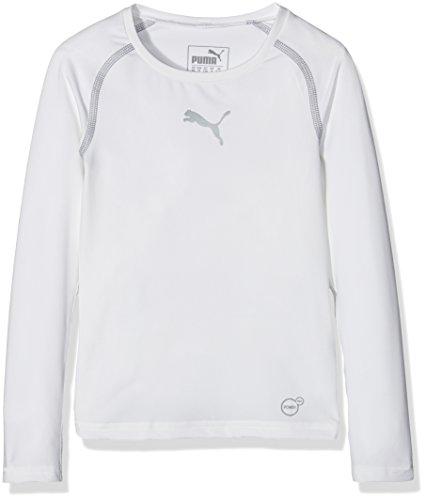 PUMA Kinder T-shirt TB Jr Long Sleeve Tee white, 116 -