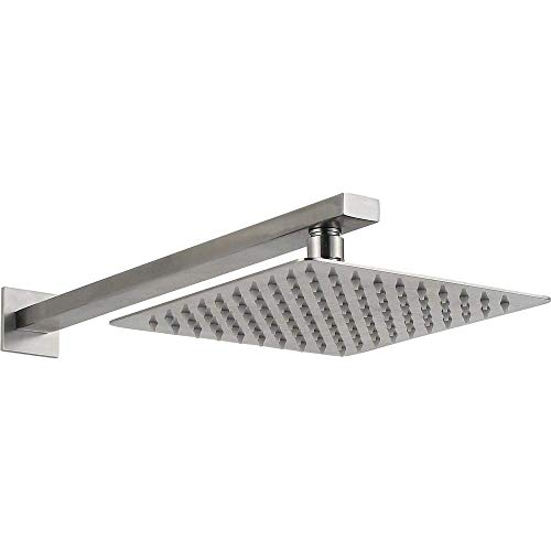 TYG Crop 304 Stainless Steel Brushed in the Wall Concealed Shower Fittings Set by Hand Rain Shower -