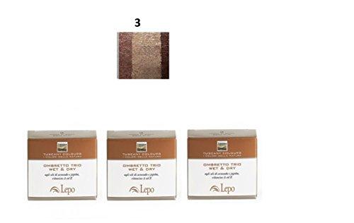 lepo-3-confezioni-di-ombretto-trio-wet-dry-tuscany-n3-terra-di-siena-marrone