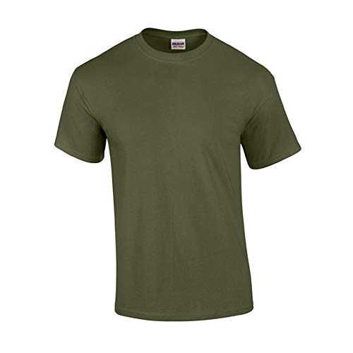 Gildan - T-Shirt 'Ultra Cotton' 4XL,Military Green