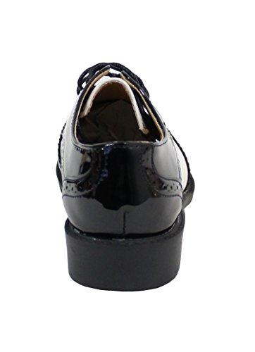 By Shoes - Damen Schnürhalbschuhe Schwarz
