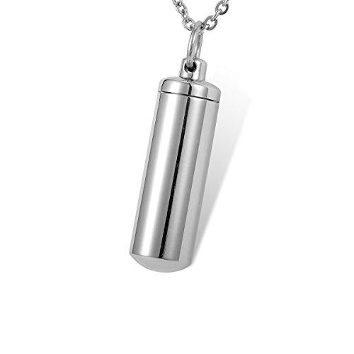 HOUSWEETY Porte-cles Pendentif Flacon avec Doublure Etancheite - Urne de Cremation Memorial Souvenir - Gravure Personnalisee Offre