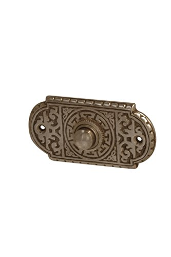 9151, aus Messing, dunkel patiniert, mit Klingelplatte und Klingeltaster - handgefertigt nach antiken Vorlagen ()