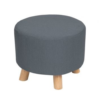 TABLE PASSION - POUF DIAMETRE 40 CM HAUTEUR 33 CM GRIS