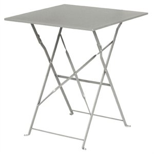 Heavy Duty Grey Pavement Steel Table Square 600mm - Commercial Cafe Bistro Restaurant Hotel Bar Pub Home Indoor Outdoor Outside Garden Metal Dining