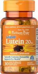 Puritans Pride Luitgold Lutein 20 mg 30 Softgelkapseln