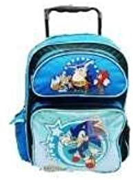 16 sonic the hedgehog rolling backpack tote bag school