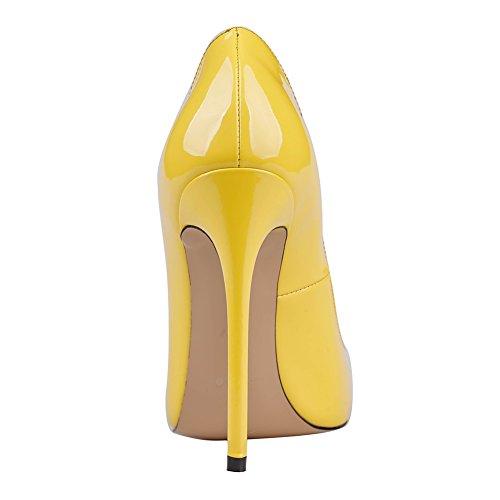 MERUMOTE , Chaussures à talon fin femme Jaune