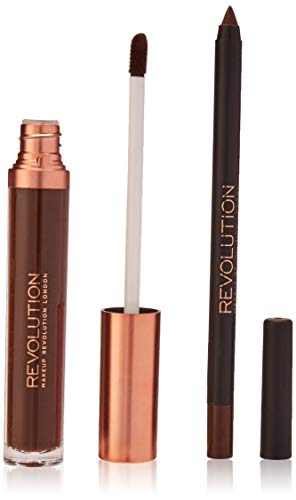 Kollektion Lip Palette (MAKEUP REVOLUTION Retro Luxe Matte Lip Kit Glory, 2 Stück)