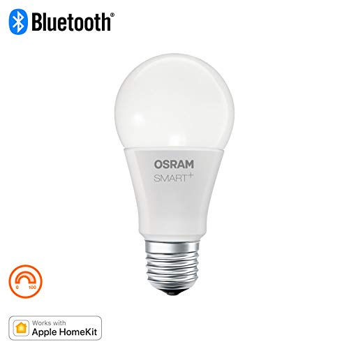 Osram Smart+ Lampadina LED Bluetooth Compatibile con Apple Homekit e Android Goccia, E27, 60W Equivalenti, Dimmerabile