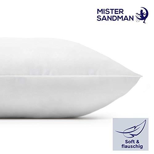 Mister Sandman großes Mikrofaser Kopfkissen mit schlaffördernder Aloe Vera - weiches und stützendes Wohlfühlkissen, allergikerfreundlich, 80x80 cm