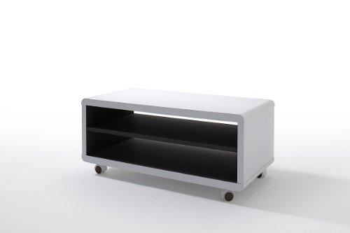 TV Tisch, TV-lowboard, TV-Board, TV-Tisch, Media-Element, TV-Board, Lowboard weiss / schwarz #60913ws