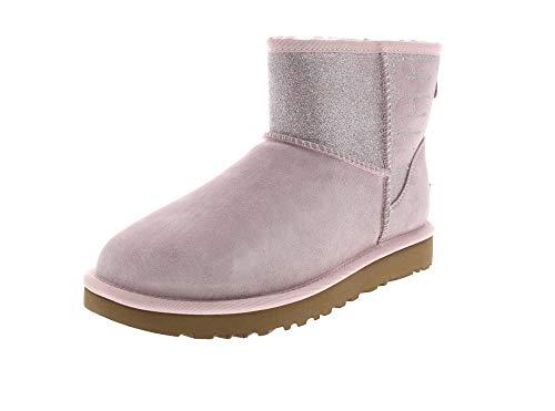 UGG Damen Booties CLASSIC MINI SPARKLE - seashell pink, Größe:40 EU -