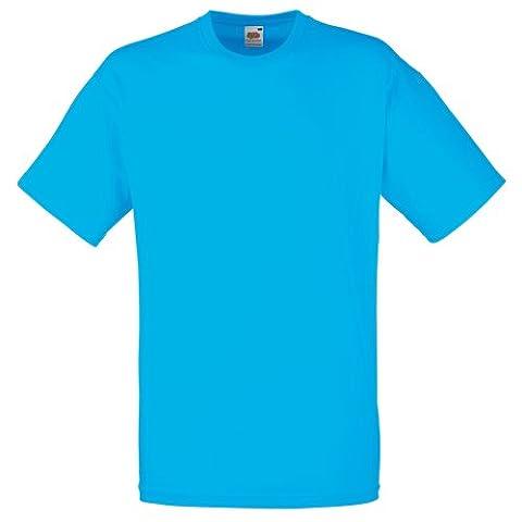 Fruit Of The Loom Herren Kurzarm T-Shirt L,Azurblau