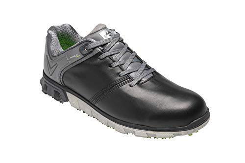 Callaway Herren Apex Pro Waterproof Spikeless Golfschuhe, Schwarz (Black/Grey Black/Grey), 47 EU