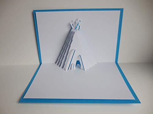 Pop up Karte - Zelt - Tipi