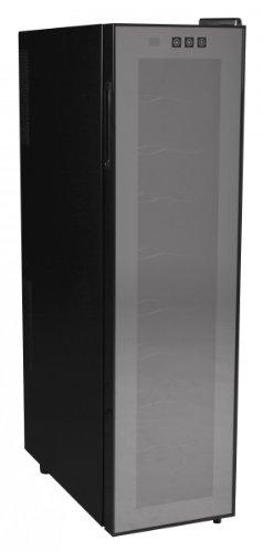 FineBuy SlimLine Weinkühlschrank 53 Liter 12°C-18°C - 18 Flaschen - Design Weinkühler schwarz (EEK: A)