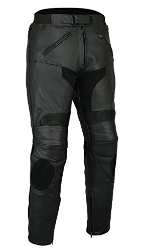 Razor Herren Motorradhose - CE-Protektoren - Schleifer - Leder (Herren-schleifer)