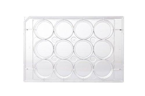 neoLab C-8109 Multitestplatten 12 Well flach, 22,4 mm Durchmesser, 3,74 cm², 6,6 mL (100-er Pack)