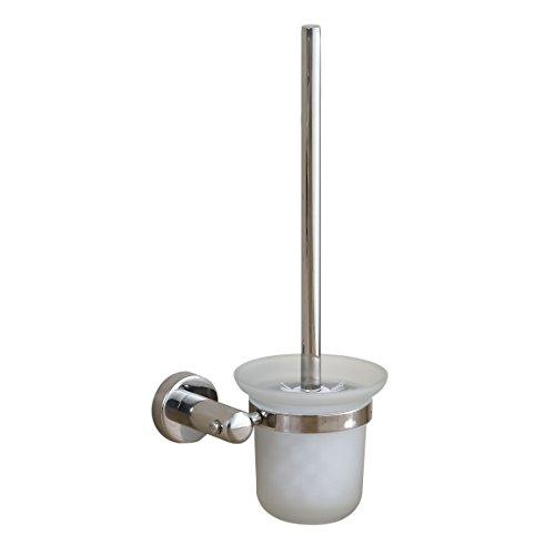 Eridanus scopino bagno wc portascopino in acciaio inox sus303, scopino per wc da parete, supporto di base in vetro smerigliato