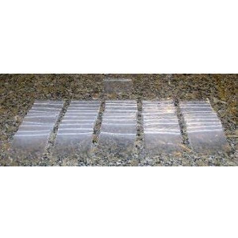 1000 - 3-inch X 7,62 cm 2 Mil abilos bolsitas de plástico transparente