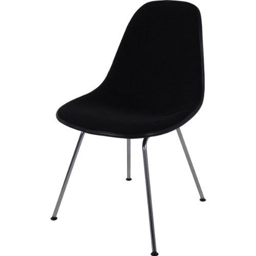Vitra 440024000201 Eames Plastic Side Chair DSX Gestell verchromt basic dark 01, 810 x 465 x 550 mm