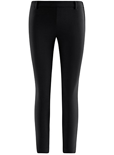 oodji Ultra Donna Pantaloni Elasticizzati Stretti Nero (2900N)