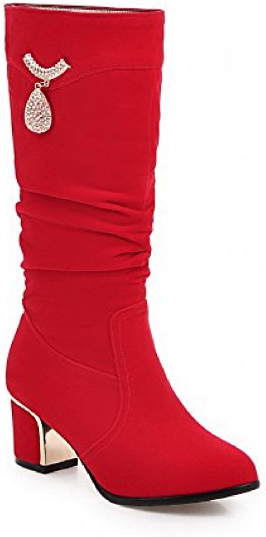 A&N - Stivali Chukka donna, rosso (rosso), 35 EU | Più economico  | Gentiluomo/Signora Scarpa
