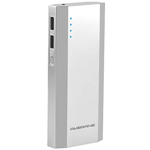 Ambrane P-1111 10000mAH Power Bank (Silver)
