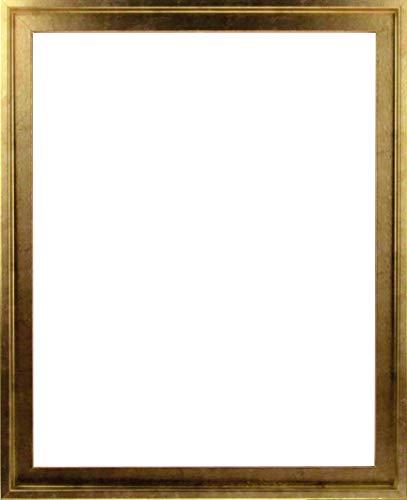 MDF-Leerrahmen ASTURIEN speziell für Leinwandbilder BZW. Keilrahmenbilder im Format 24 x 30 cm. Schattenfugenrahmen in der Farbe: Gold Antik. 10 Farben zur Auswahl -