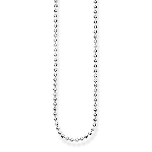 Thomas Sabo Damen-Kette Glam & Soul Kugelkette 925 Sterling Silber Länge von 45 bis 50 cm KE1347-001-12-L50v
