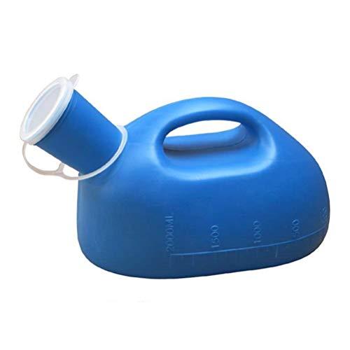 Healifty Urinal für die Reise 1 stück 2000 ml männer Tragbare Outdoor Urinflasche Urinsammler mit Abdeckung Notfall WC (Blau)