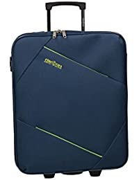 CLACSON Equipaje de mano semi rígido azul maleta trolley 50x40x20 cm VS335