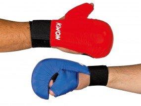 KWON Karate Handschutz, mit Daumenschaufe, blau, Gr. L