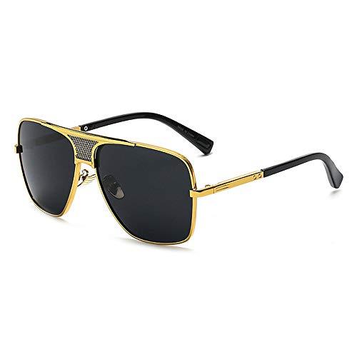 Eye-nak Oversized Herren Sonnenbrille in vielen Farben (C4 Gold Schwarz)