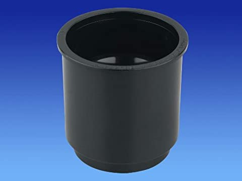 Wavin OSMA Roundline Downpipe Pipe Connector Black 0T024b