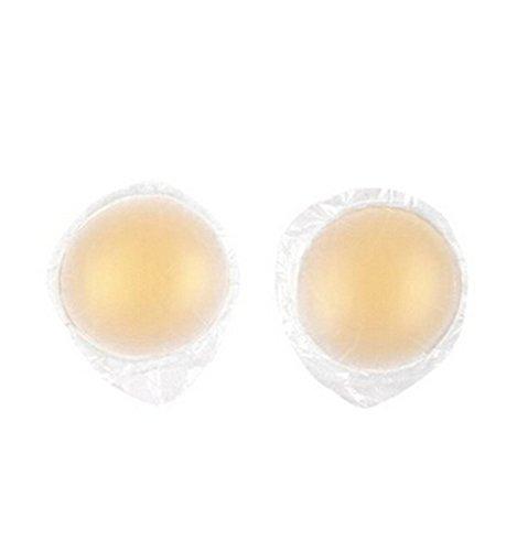 ANKKO Assorbilatte seno silicone naturale Ultra sottile capezzolo copertina seno adesivo pastiglie (Forma (Nutriente Lavare A Mano)