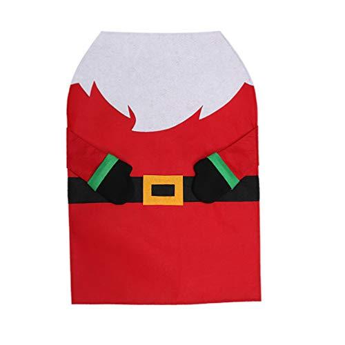 Amosfun - Delantal de Navidad
