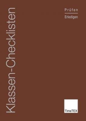TimeTEX Klassen-Checklisten - Prüfen & Erledigen - A4 - Heft - Braun - 10784