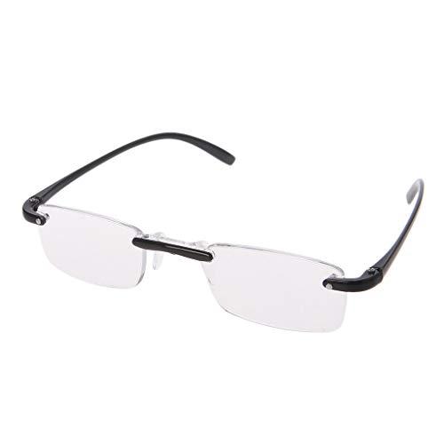 Kalttoy Lesebrille - Randlose Flexibel Brille in verschiedenen Stärken und Farben (Schwarz, 2.00)
