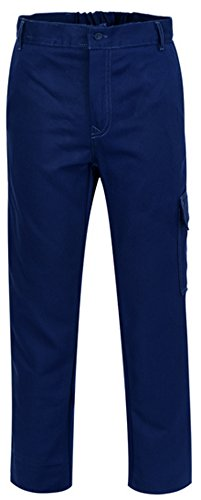ded1b59b8bc2 Pantaloni Uomo Da Officina Tecnico Invernali Blu Con Tasca Laterale A00321  (L)