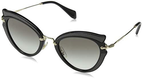 Miu Miu Damen 0MU05SS VIE0A7 52 Sonnenbrille, Schwarz (Black/Grey),