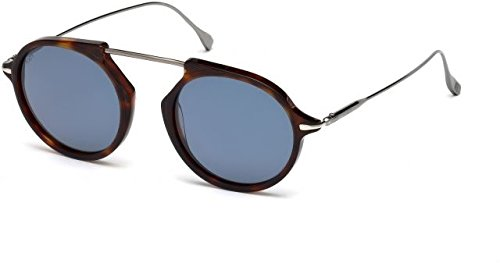 Occhiali da sole tod's to0197 c50 54v (red havana / blue)