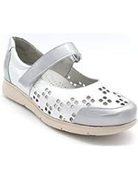 Zapato Merceditas Sport para Plantillas M-25414 Plata