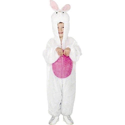 Häschen Kostüm Rosa - NET TOYS Kinder Hasenkostüm Ganzkörperanzug weiß rosa 5-8 Jahre 128 - 140 cm Häschen Kostüm Häschenkostüm Kinderkostüm Hase Hasenkinderkostüm