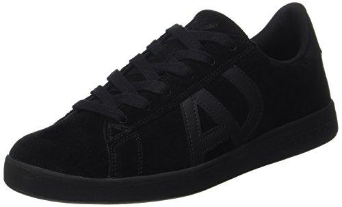 Armani Jeans Herren Sneaker Low Cut, Schwarz (Nero), 46.5 EU